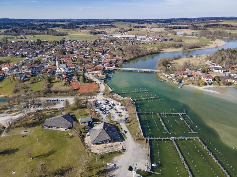 Drohne-Seebruck-Alz-Chiemsee-Chiemgau-001