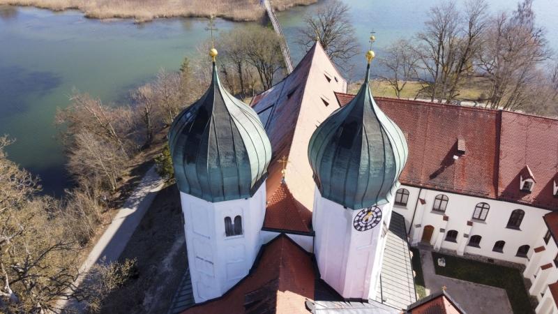 Kloster Seeon von oben